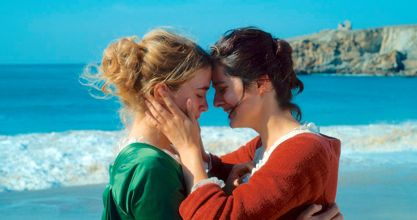 "touching romance — Adèle Haenel, left, and Noémie Merlant in ""Portrait of a Lady on Fire."""
