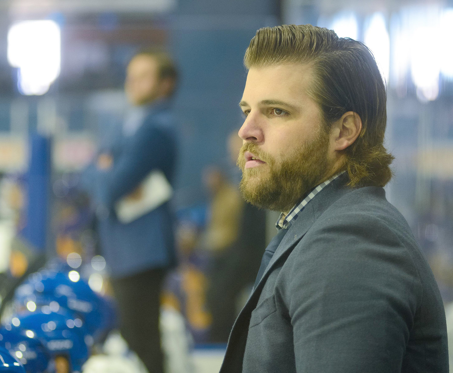 NOW COACHING — Nick Palmieri is an assistant coach for the Utica Jr Comets' National Collegiate Development Conference team and the premier team. Palmieri, who played for Clinton high school before heading to prep school, brings NHL experience to the bench, where he's helping young players take their game to the next level.