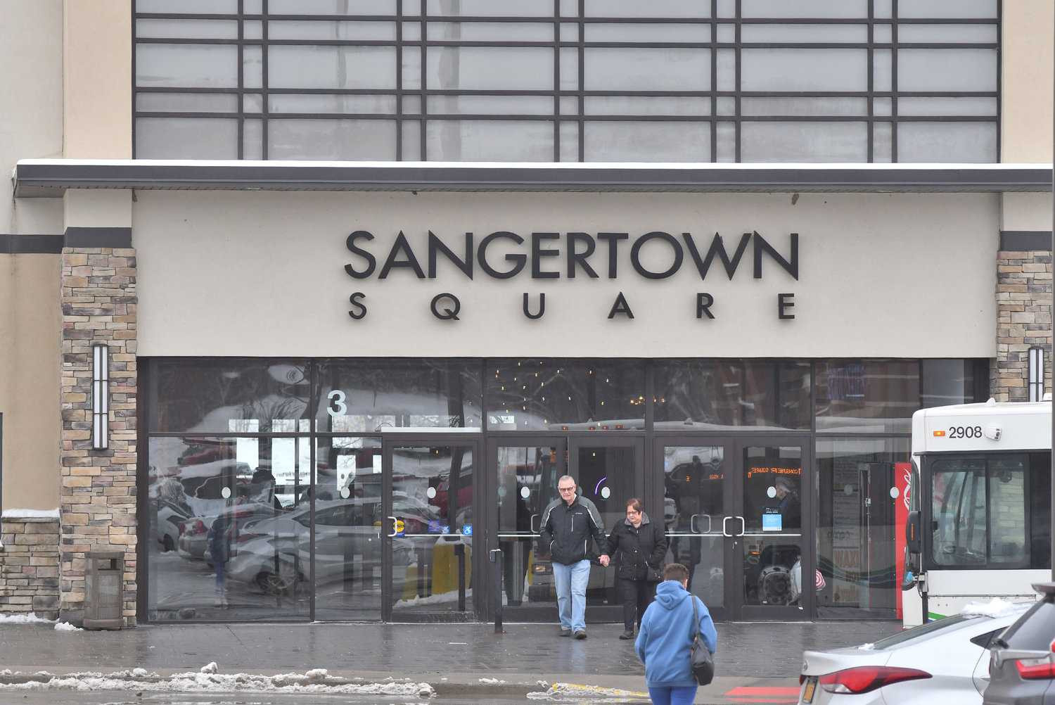 MALL ENTRANCE — Pictured is one of the many entrances to Sangertown Square in New Hartford.