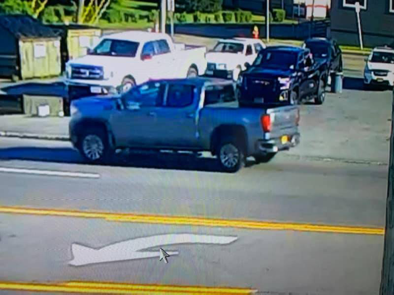 HAVE YOU SEEN THIS TRUCK? — This gray-colored, 4-door extended cab pickup truck struck a 9-year-old bicyclist on Oriskany Boulevard in Yorkville Thursday evening, according to law enforcement officials. Police said the driver fled the scene without stopping. Anyone who recognizes this truck or has information about the collision is asked to call Yorkville Police at 315-736-8331. (Photo courtesy Yorkville Police Department)