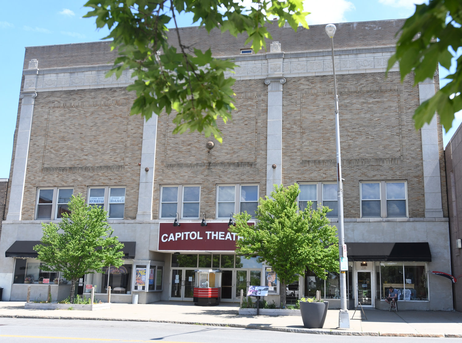 BACK TO THE FUTURE — The exterior of Capitol Theater, 220 W. Dominick St., is shown in this recent file photo. The exterior is getting a makeover, utilizing funds from the $10 million Downtown Revitalization Initiative.