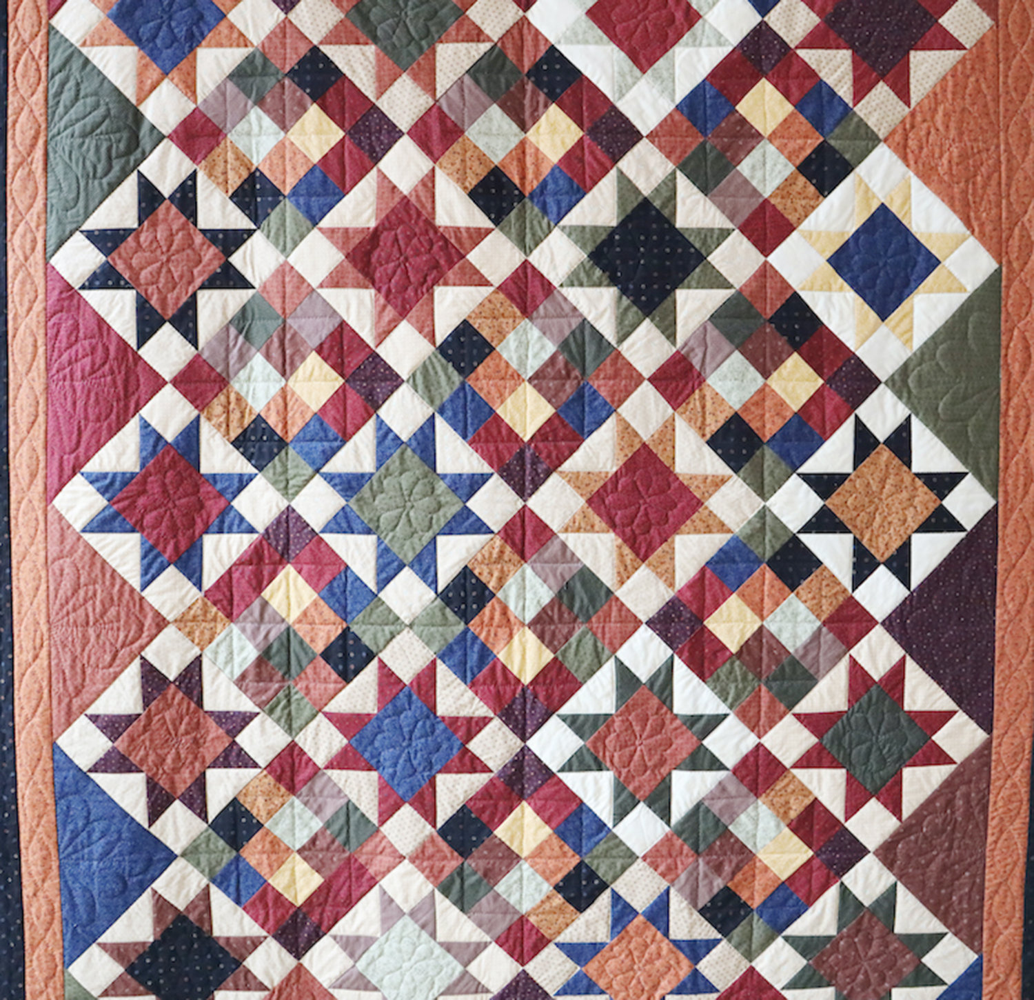 """Rustic Stars"" — Piece by the Pointed Pine Quilters"