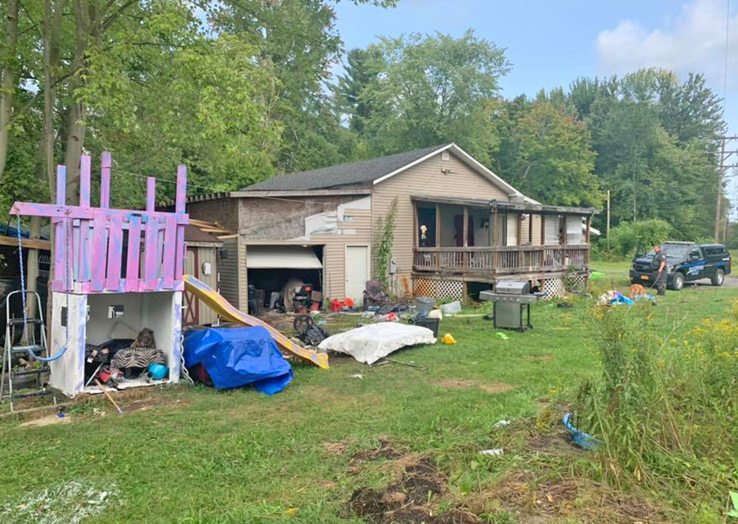 PROPERTY UNDER INVESTIGATION — This residence on Cobb Street in Oneida is under investigation for trash and possible codes violations, according to Oneida City Police. No arrests have been made so far. Police said the owner is in the hospital.