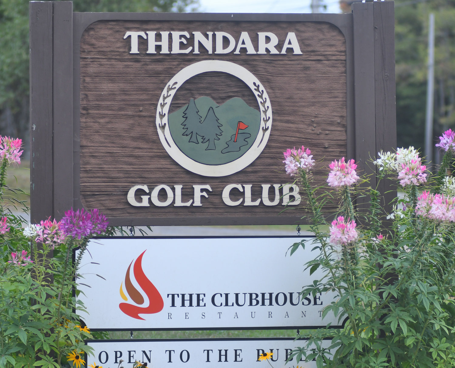 SIGN OFF THE ROAD — A sign for Thendara Golf Club off of Route 28.