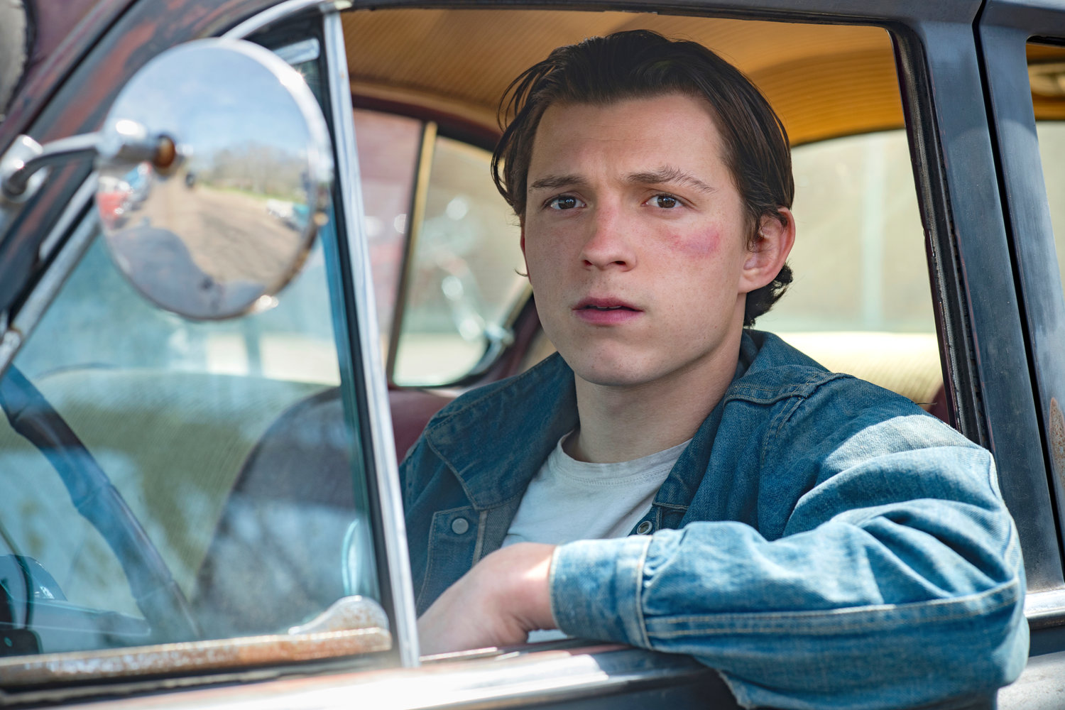 "ACTING CHOPS — Tom Holland in a scene from ""The Devil All The Time."""