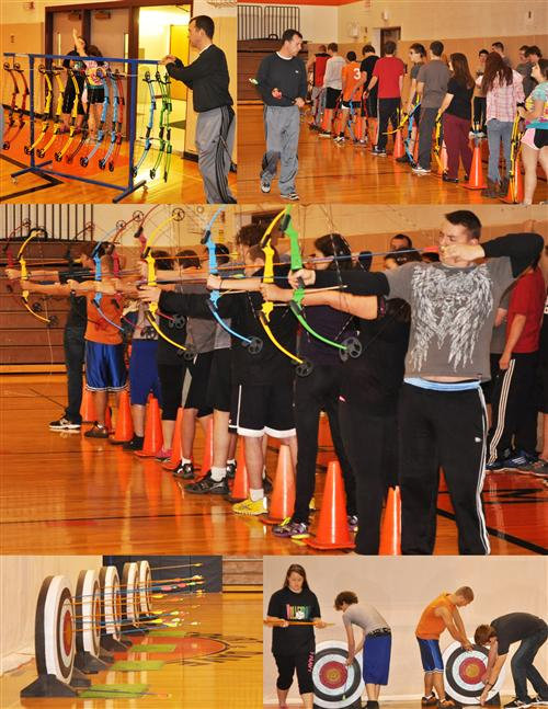 ON TARGET — The montage of file photos shows that Remsen's archery program hits the mark with students who enjoy the unique offering.
