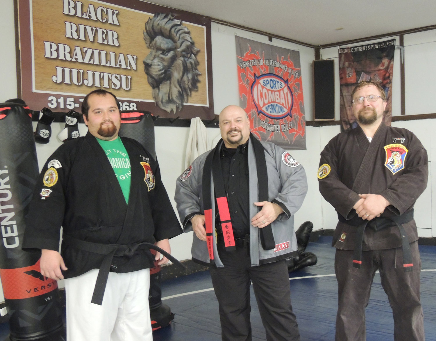 READY TO HELP OTHERS GET THEIR KICKS — The Black River Brazilian Jiu-jitsu/H.I.S. Academy of Martial Arts offers a variety of martial arts classes under the direction of Dan Maher, a 10th degree black belt; Fredrick Croniser, a second degree black belt, and Michael Lieber, a first degree black belt.
