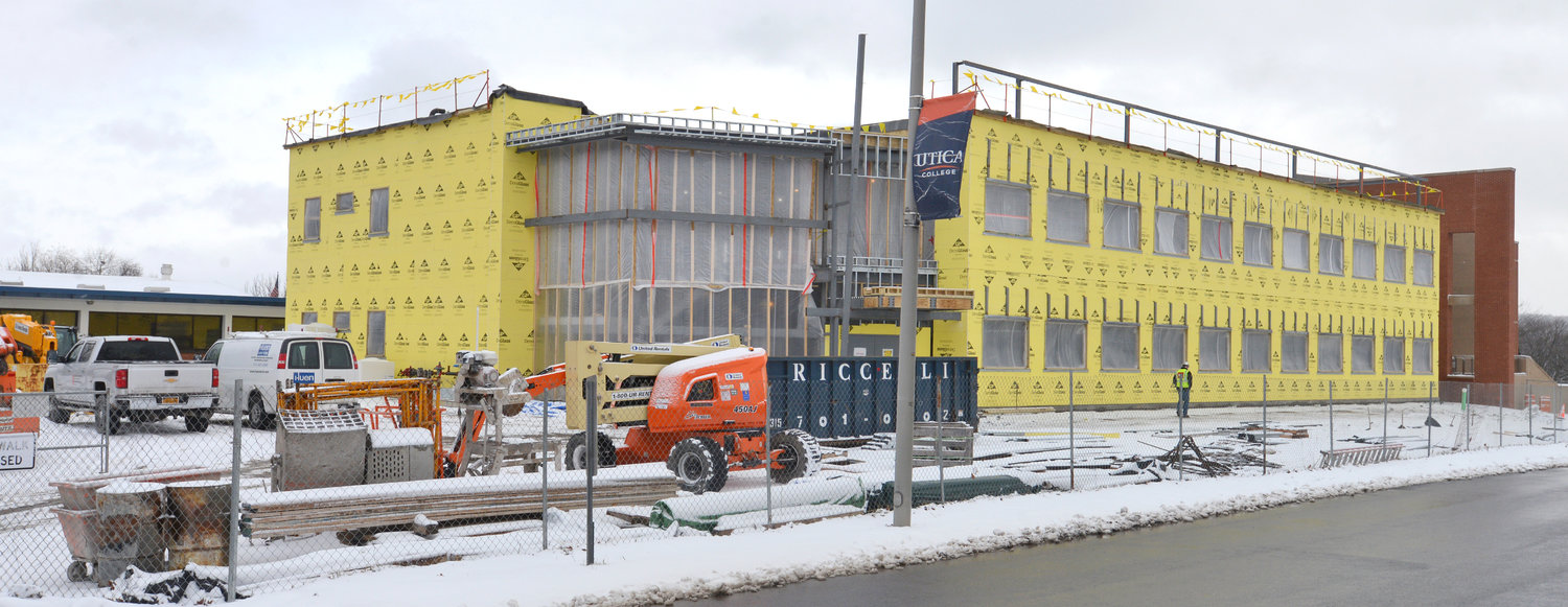 UC CONSTRUCTION MOVING ALONG —  Under construction at Utica College is a new Science Annex that UC is looking forward to completing this summer, to welcome students for the fall 2021 semester.