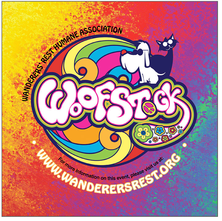 "WOOFSTOCK — The Wanderers' Rest Humane Association will host ""Woofstock,"" a family fun festival, on Sunday, Sept. 9, from 10 a.m. to 3 p.m."