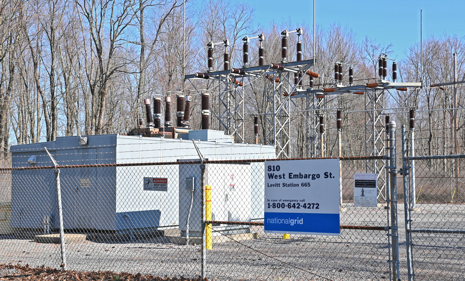 POWER TO THE PEOPLE — The National Grid power station on West Embargo Street, near the intersection with North Levitt Street, is getting an upgrade. While the work is in progress, the utility will use a massive generator to keep electricity flowing to the impacted areas.