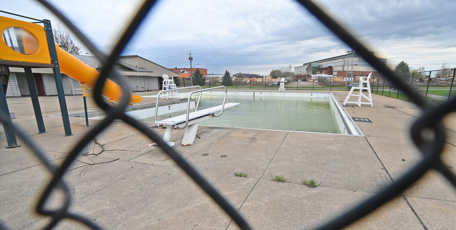 This might be the only view of Tosti Pool at Pinti Field this summer- through the chainlink fence.