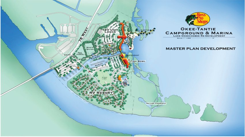 A master plan for the Okee-Tantie recreation area is under development.