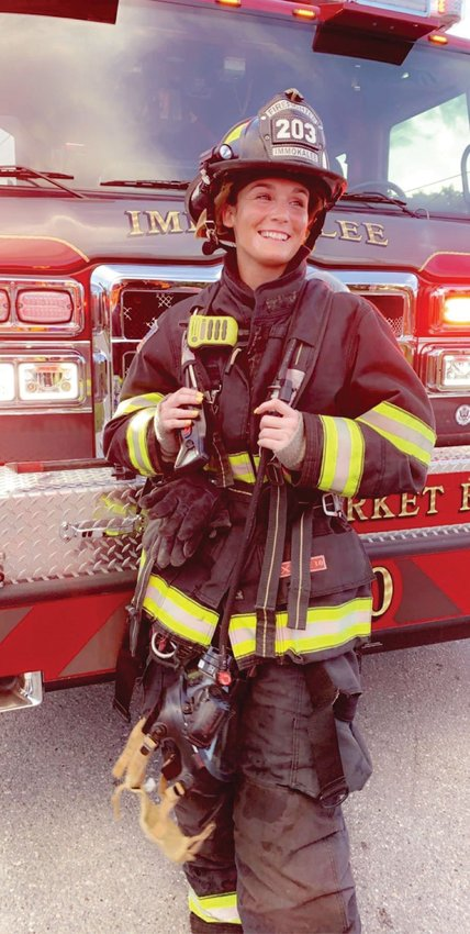 Taylor Manssuer is the first-generation firefighter/EMT in her family.
