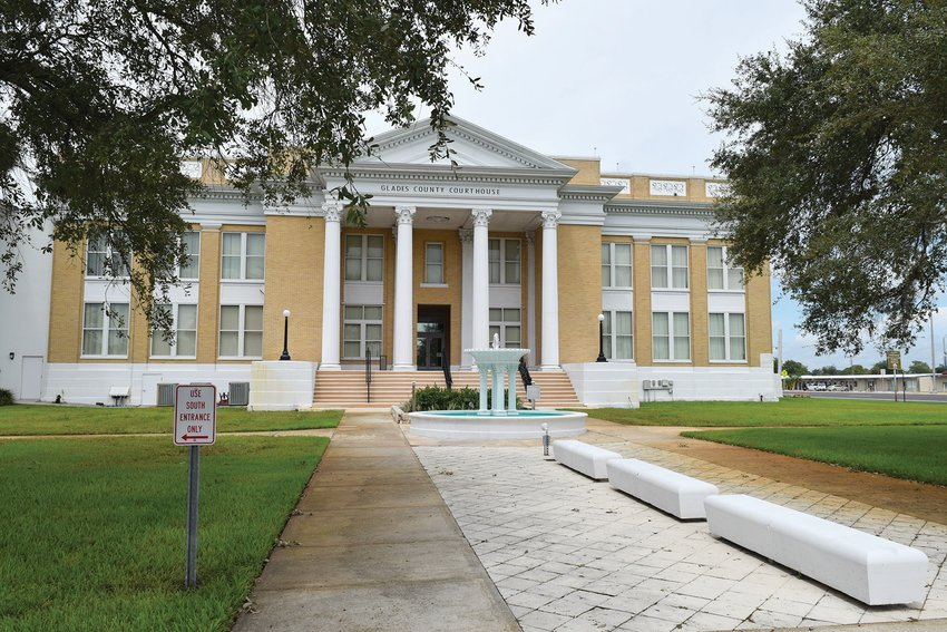 MOORE HAVEN —  Glades County's stately courthouse, build in the 1920s, will have a new roof within a few months.