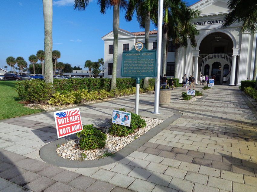 Early voting in Okeechobee started Monday at the Historic Okeechobee County Courthouse.
