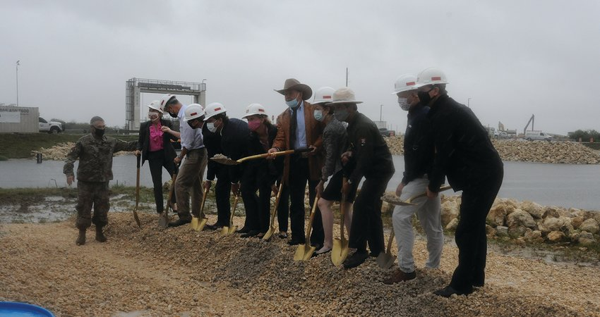 The EVERGLADES – Federal and state officials gathered near the Tamiami Trail on Oct. 21 for the groundbreaking of the first contract in the Central Everglades Planning Project.