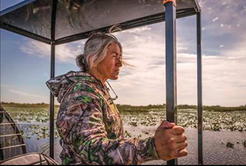 """EVERGLADES NATIONAL PARK — Betty Osceola looks out over the """"River of Grass."""""""