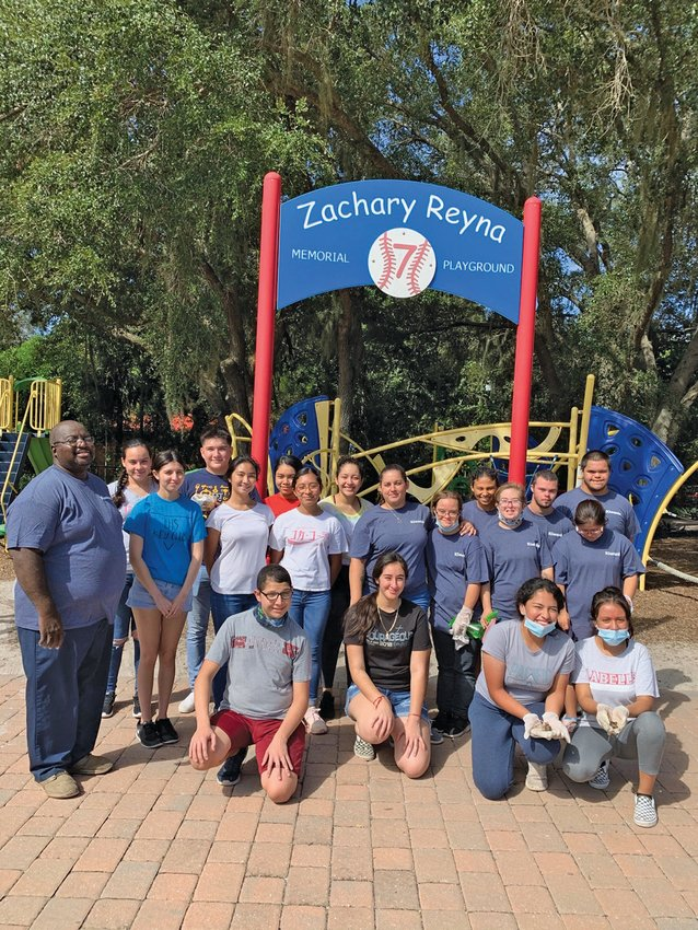 LABELLE – Kiwanis of LaBelle, Hendry Kiwanis Aktion Club, High School Kiwanis Key Club, and the West Glades School Builders Club gathered to clean and disinfect Zachary Reyna Memorial Playground on Saturday, Oct. 24, for their Kiwanis One Day event.