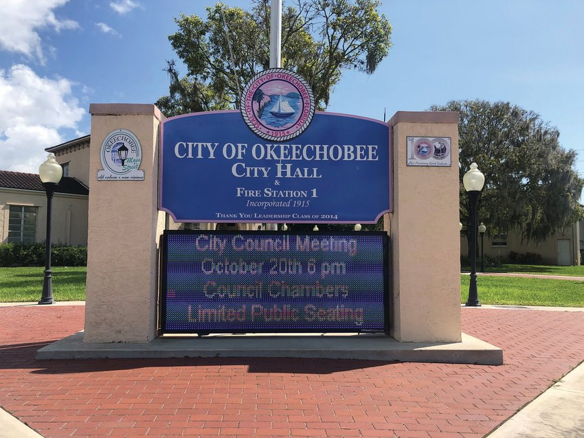 The Okeechobee City Council meets on the first and third Tuesday of each month at 6 p.m.