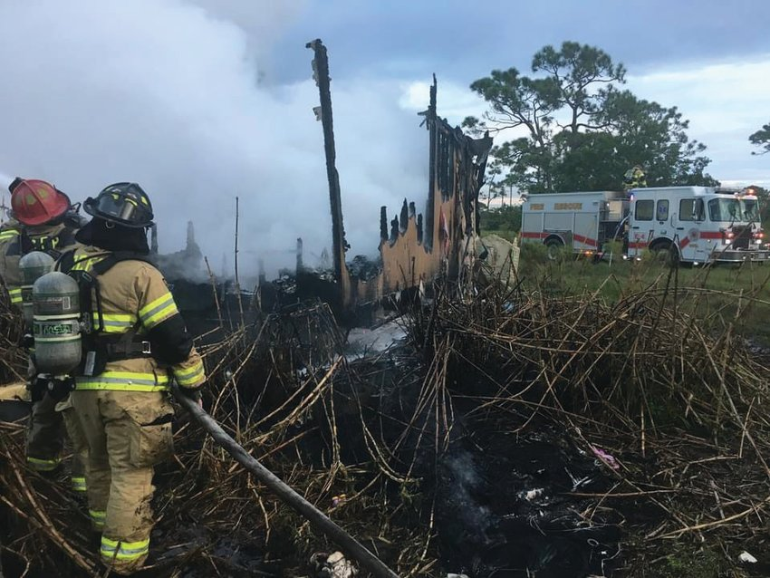 This mobile home on Northeast 101st Street was a complete loss after a fire on Oct. 25.
