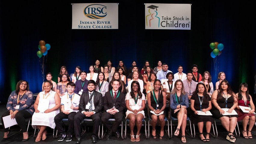 The 2019 recipients of IRSC's Take Stock in Children scholarship are pictured above. The application for the 2021 scholarship is now open for new applicants.