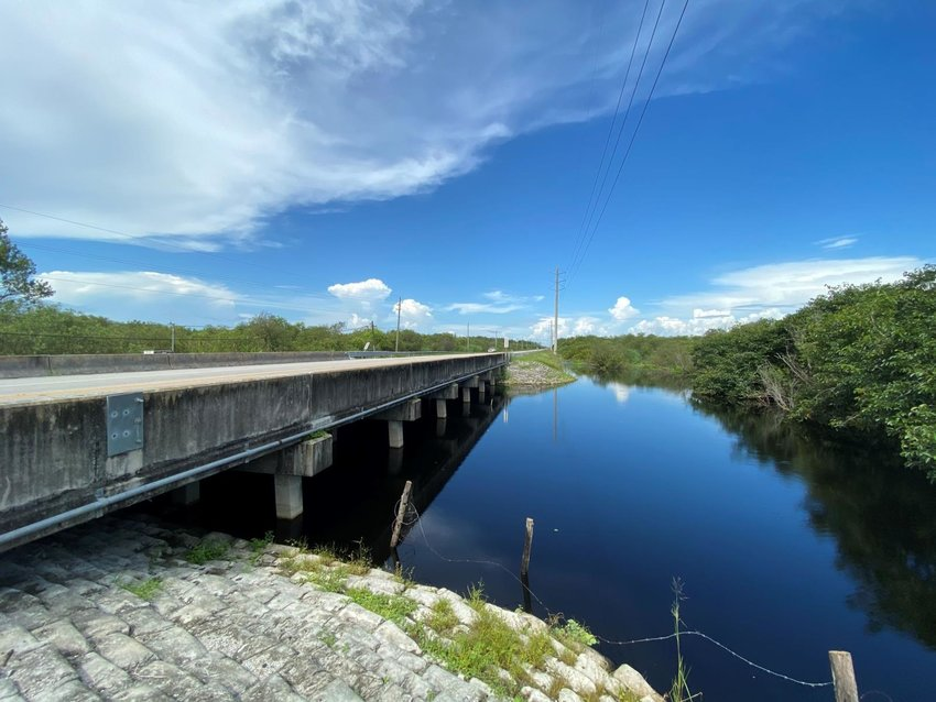 The speed limit on Immokalee Road for the Gator Canal Bridge Replacement Project's construction zone was reduced from 55 mph to 40 mph.