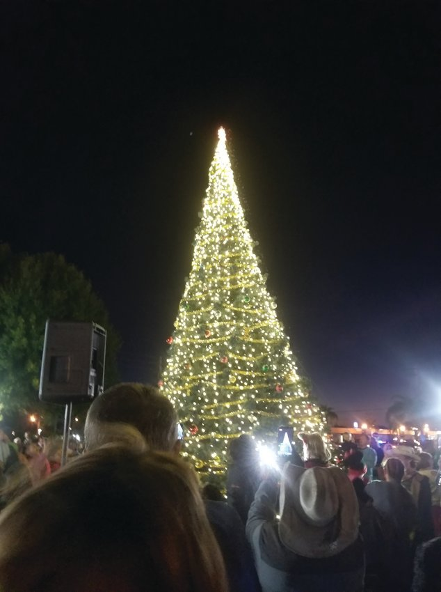 The city's annual tree lighting event is something the citizens of Okeechobee look forward to all year.