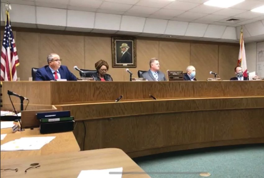 OKEECHOBEE — The Hendry County Board of County Commissioners meet in their chambers inside the courthouse.