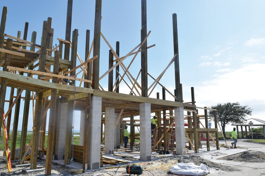 The Lake O scenic overlook tower is under construction and expected to be completed within several weeks.