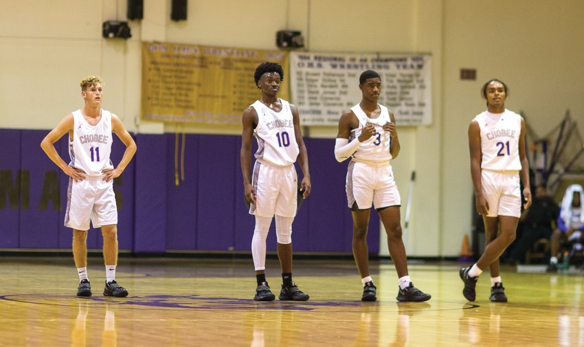 From left to right: Daniel Phillips, Kehjayah Rogers, Jayquavious Thomas and Lee Edouard.