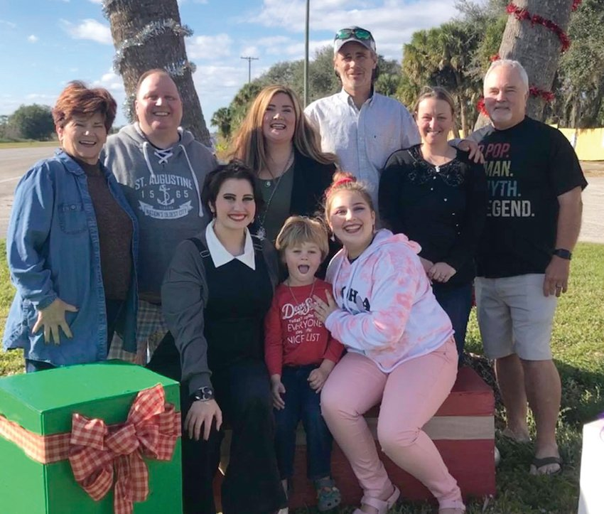 The Gatorama family are (standing, from left) Patty Register, son-in law Jason Barker, Erica Barker, Ben and Christina Register and dad Allen Register; (sitting) Bella Barker, Benson Register and Lily Barker.