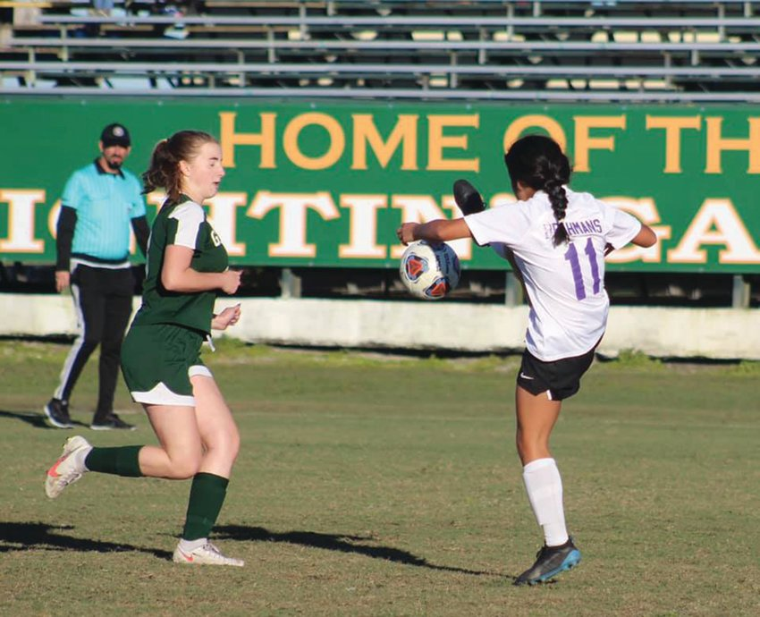 The Glades Day Lady Gators and Okeechobee Lady Brahmans will battle again on Jan. 19.