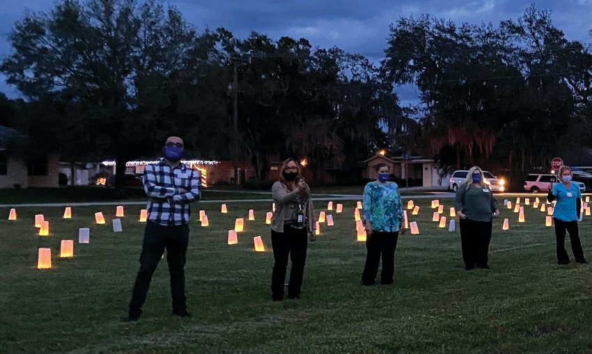 OKEECHOBEE — On Dec 3, 2020 Lanterns on the Lawn was created by lighting 400 white lanterns, each with the name of someone under the care of Hospice of Okeechobee in the last two years.