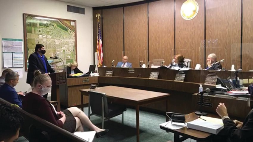 Dr. Pepe, Administrator at the Florida Department of Health in Hendry County, speaks to the Hendry Board of County Commissioners regarding COVID-19 vaccine distribution.