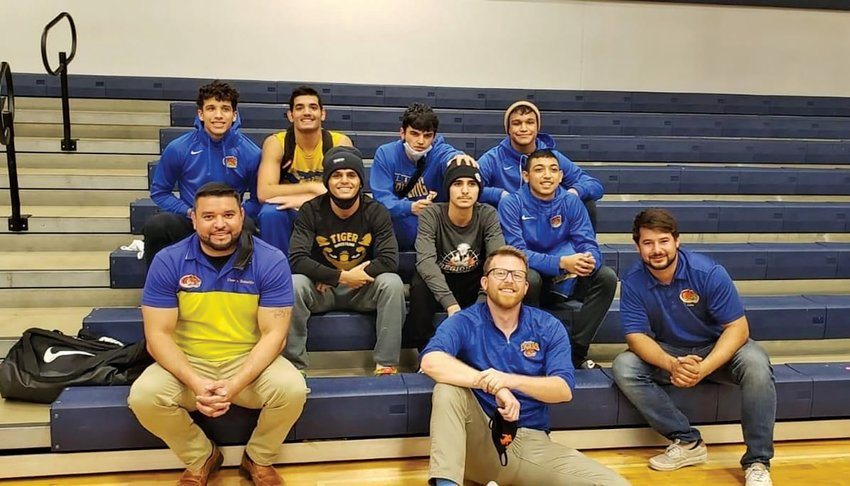 The Clewiston High School Wrestling Team gather for a photo at The Oasis Duals on Jan. 20.