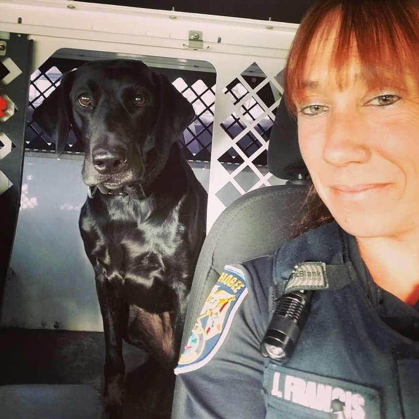 K9 Luna and Office Jessica Francis are always ready to get the job done.