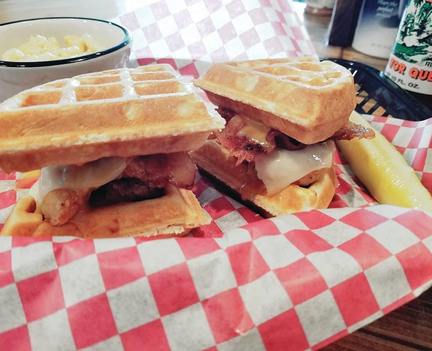 Chicken and waffle sliders are just one of the awesome specials offered at Short Cakes Sweet Shop and Eatery.
