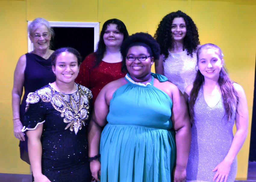 Pictured in the back row from left to right are: Sue Wild, Emylee Hull, and Naima Mailliard. Front row from left to right are: Jenny McClain, Kyla Miller, and Jackie Wilkins.