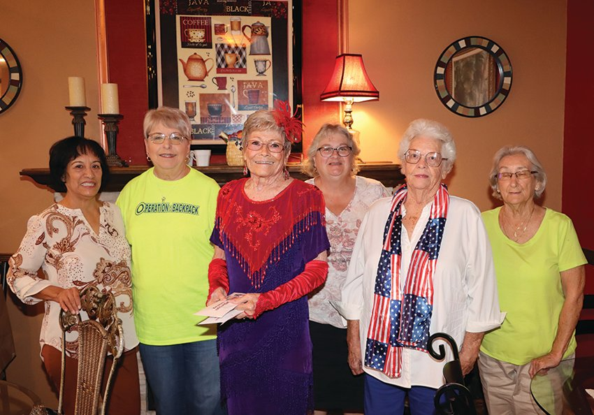 Pictured from left to right are Rosa Marroquin. Linda O'Ferrell, Lois Houser, Chris Morris, Beverly Lucas and Merileen Cogdill.