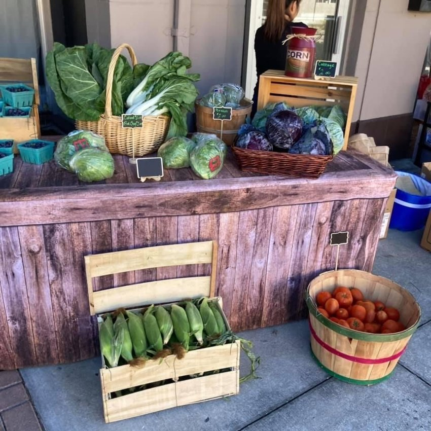 The Market on Bond offers fresh, locally grown produce during its first event.