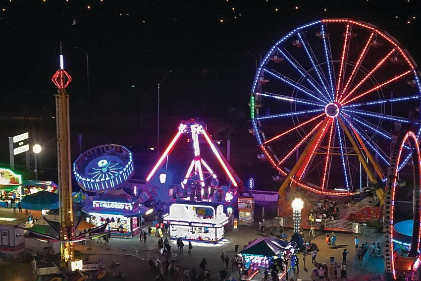 A night scene from a previous South Florida Fair.