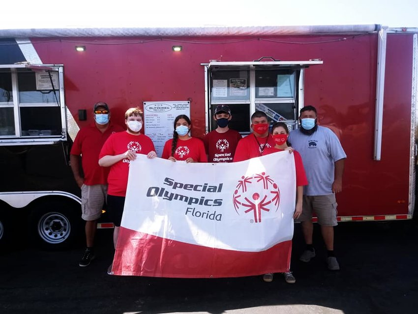Blitzkreig Barbecue donated lunches for the Special Olympic athletes.