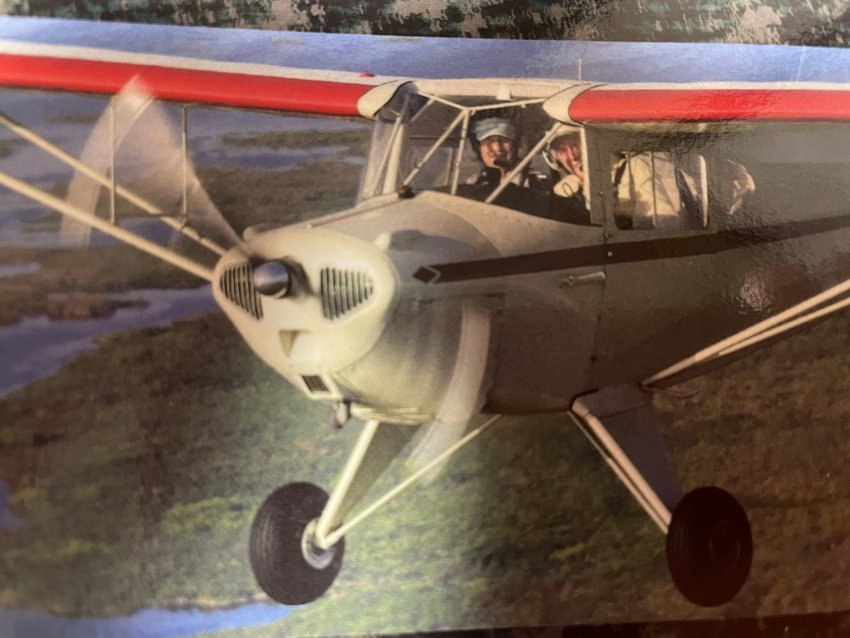 This photo was taken by Rusty Barnes as his wife Melinda Barnes piloted their plane alongside the Taylorcraft.