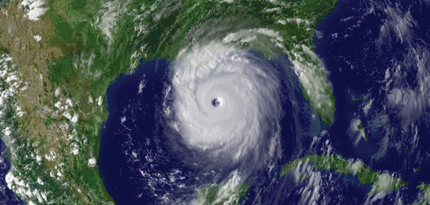 This picture is of the eyewall of Hurricane Katrina.