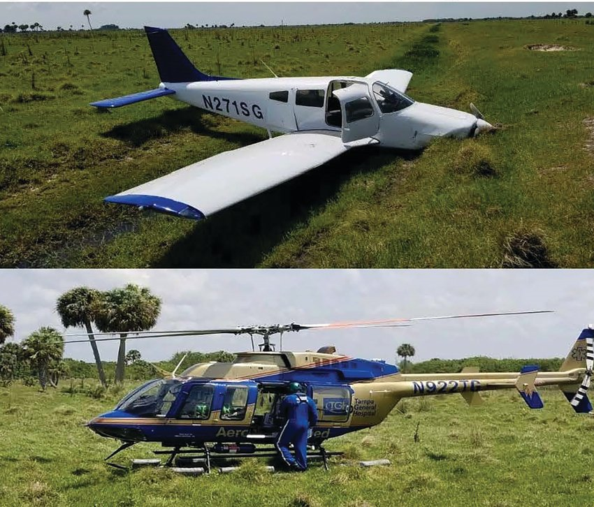 The pilot and passenger both survived but were airlifted out due to injuries sustained.