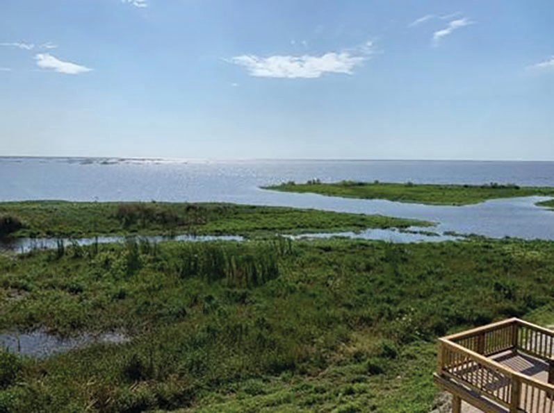 "The view of the lake and scenery at the""Sam Griffin Lake Okeechobee Scenic Overlook Tower"" is worth the climb."
