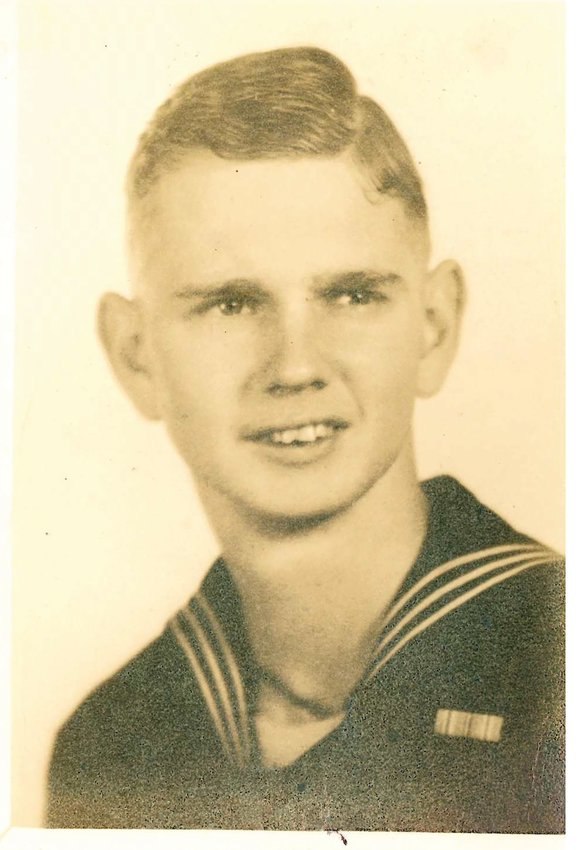 Earl Hansel joined the Navy during WWII while he was still in high school.