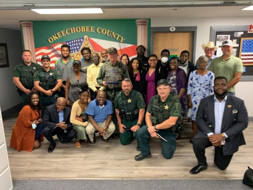 After one of their family members was rescued, the Narcisse family stopped by to thank the OCSO.