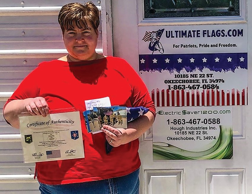 Jonica Hough, owner of Ultimateflags.com, was thrilled to get a package from the Marines who received her flags.