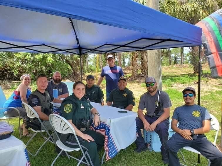 Hendry County first responders attend the Engblom's Hendry County First Responder Cookout on Sunday, July 4, 2021.